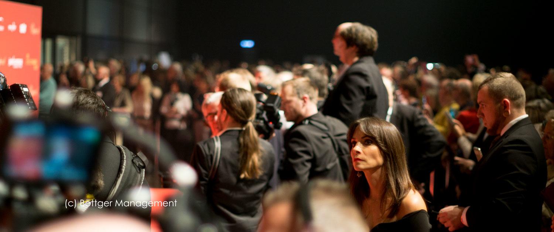 Moderatorin Jean Bork auf 25. Josè Carreras Gala 2019