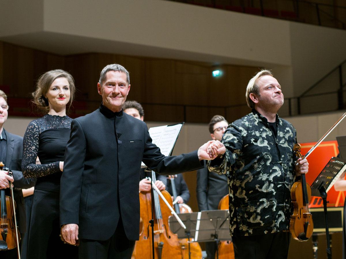 Udo Schenk und Michael Maciaszczyk im Kulturpalast Dresden