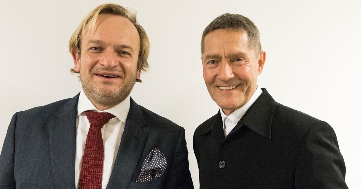 Maestro Michael Maciaszczyk mit Schauspieler Udo Schenk bei Bögazin