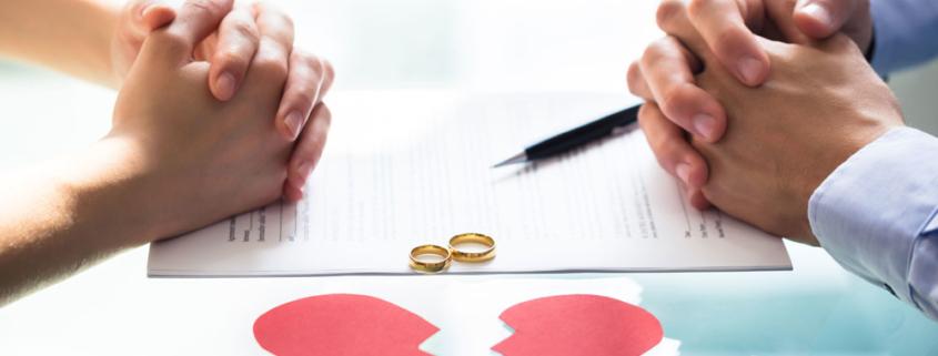 Scheidung ist die Auflösung einer Ehe