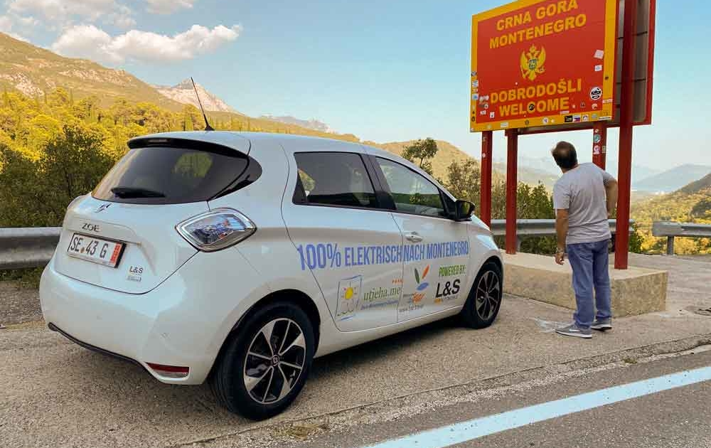 Von Deutschland bis nach Montenegro Renault ZOE
