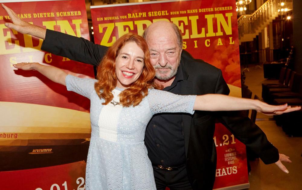 Ralph Siegel und Laura Siegel bei Zeppelin-das Musical