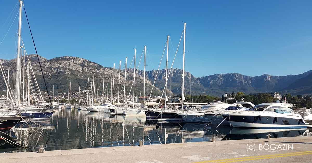 AD Marina Bar an Montenegros Küste