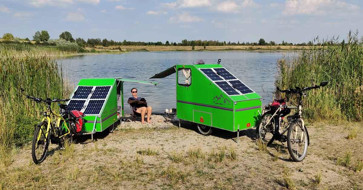 Entspannt und unabhängig mit einem Fahrrad Wohnwagen reisen