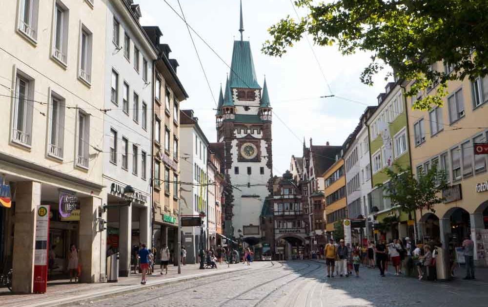 Martinstor im Südwesten Freiburgs