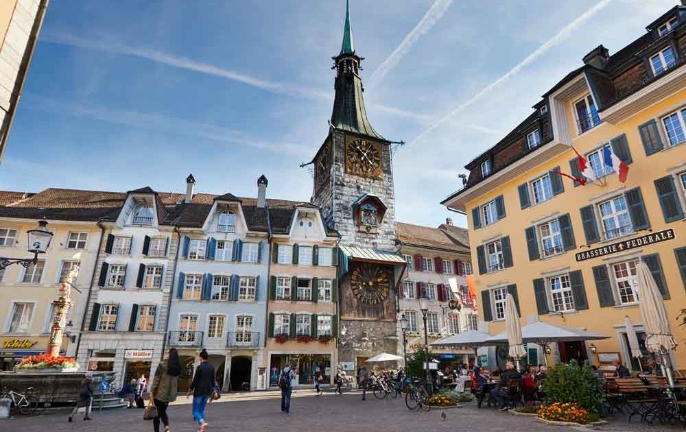 Solothurns Marktplatz ist ein beliebter Treffpunkt